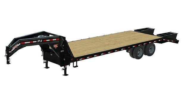 2019 PJ Trailers FD Series Flatdeck Gooseneck w/ Duals