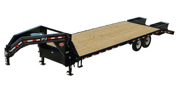 2019 PJ Trailers FS Series Flatdeck Gooseneck w/ Singles