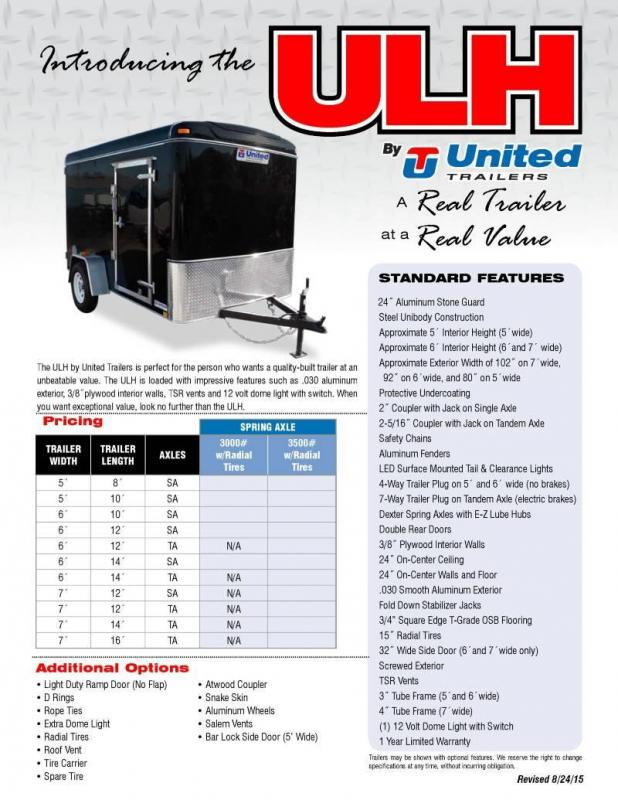 2019 United Trailers ULH Series Enclosed Cargo Trailer