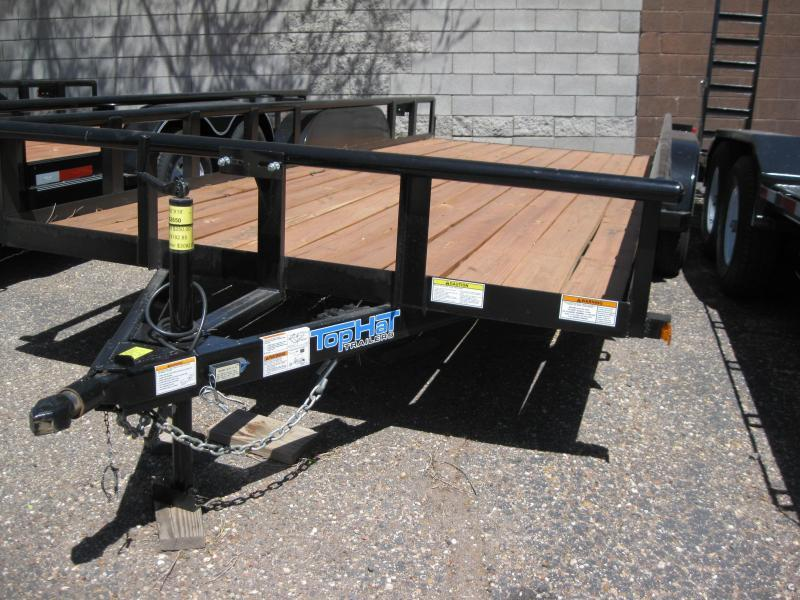 83X18 Utility Trailer with Pipe Rail and 4