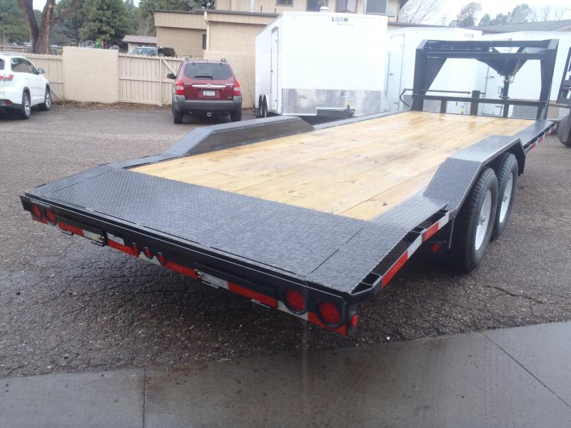 Gooseneck 102 X 22 Equipment Hauler with Drive over fenders and 5' slide in ramps
