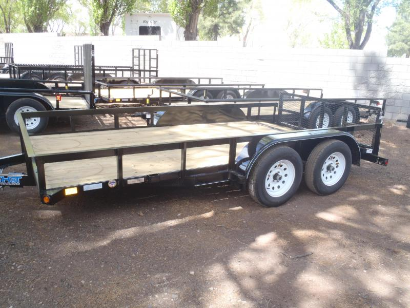 83X14 Utility Trailer with Angle Rail and 2