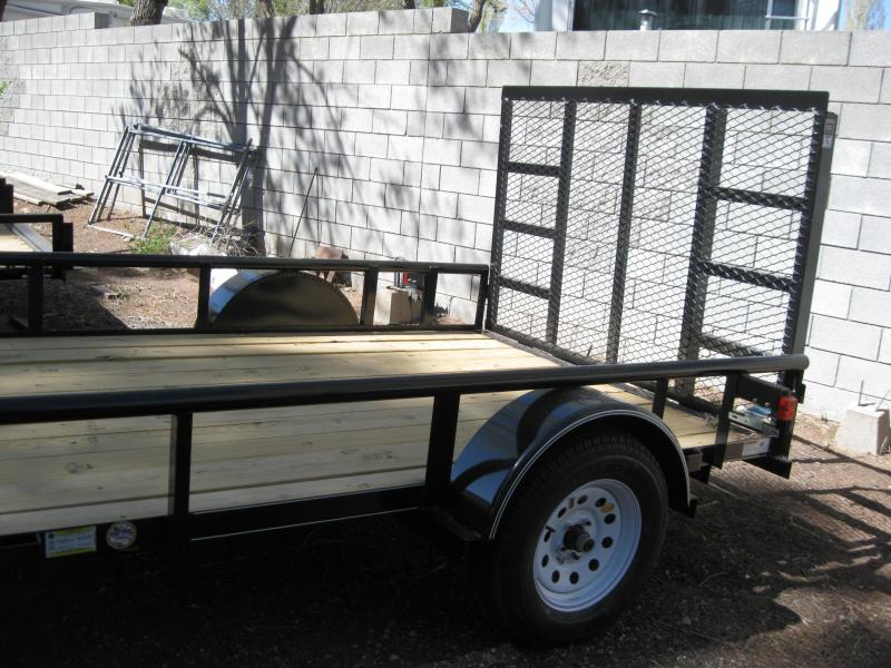 77x10 SA Pipe Top Rail Utility Trailer