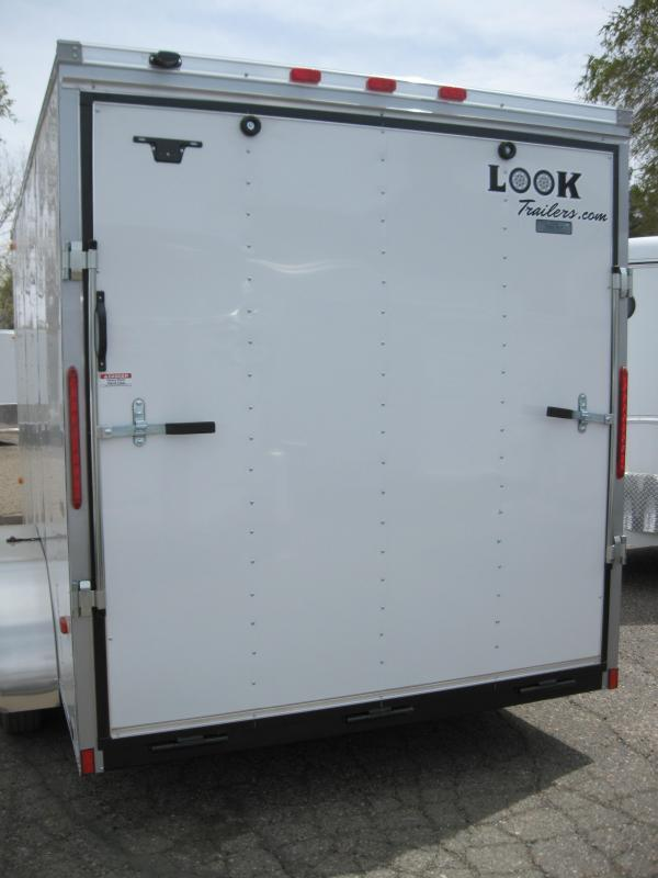 7X16 Cargo Enclosed Rear Ramp 7' Tall