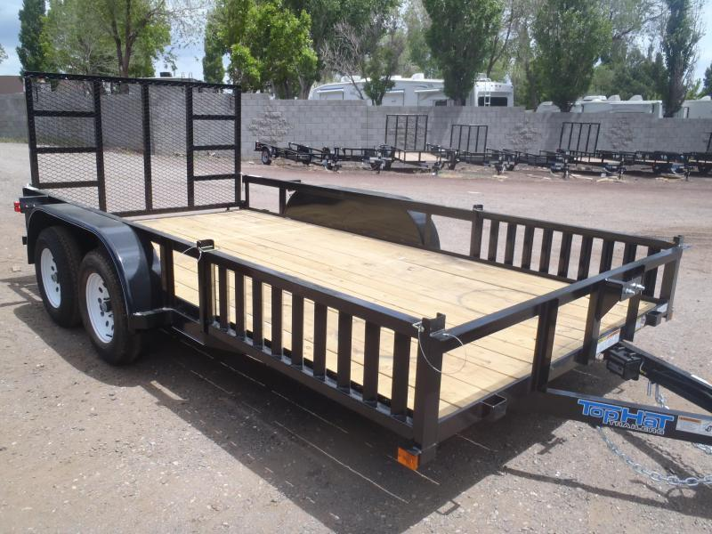 83X14 Tandem Axle Quad Ramps and Ramp Gate Utility Trailer