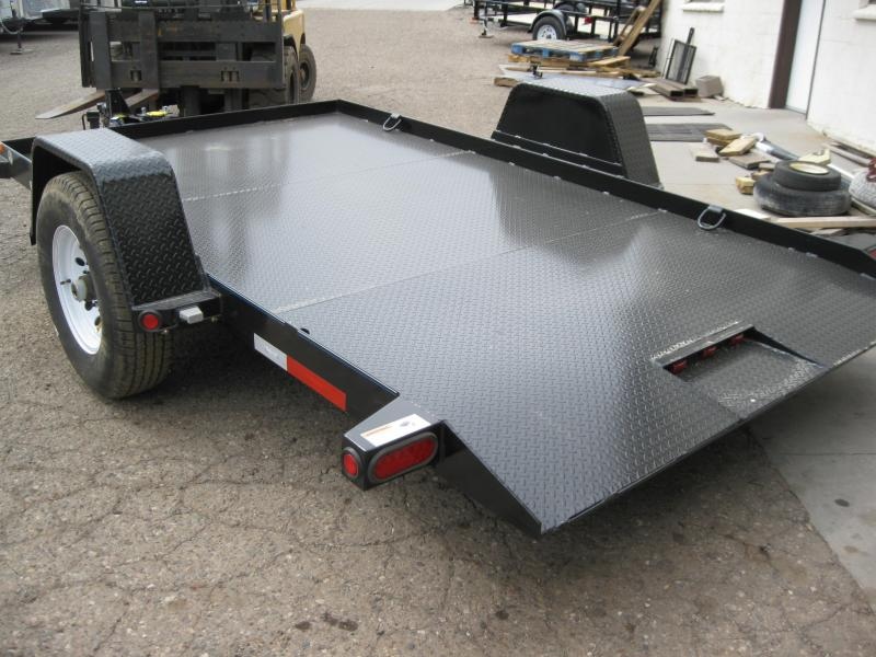80X12 Single Axle Equipment Tilt Equipment Trailer