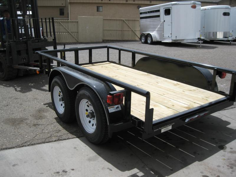5x12 Tandem Axle Pipe Rail Utility Trailer