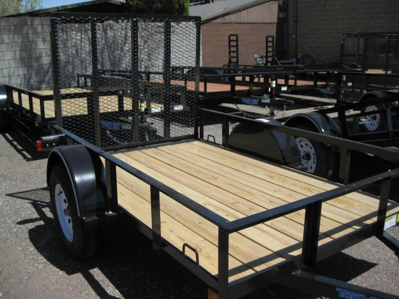 5X10 Utility Trailer Angle Rail and Ramp Gate