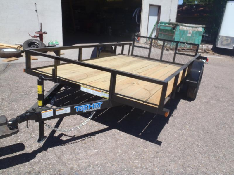 77X12 Angle Rail Utility Trailer with 2