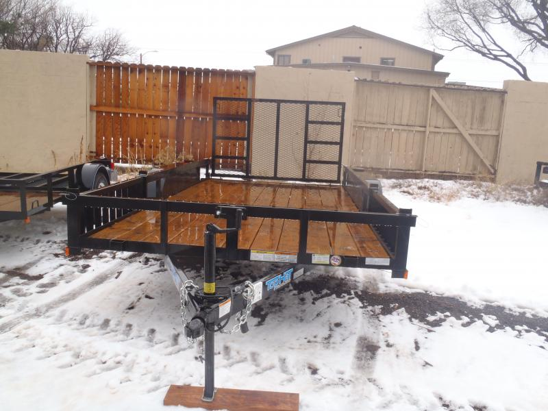 2018 Top Hat Trailers 83X14 EA with Quad ramps Utility Trailer
