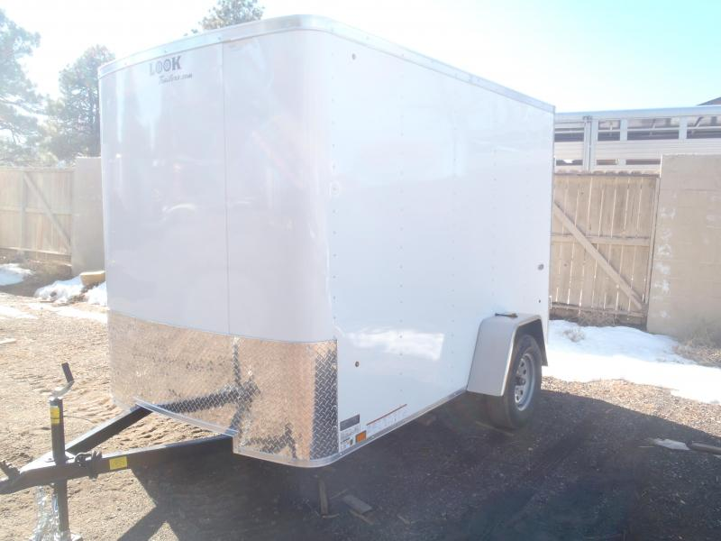 6x10 ST Enclosed Trailer Barn Doors With Side door