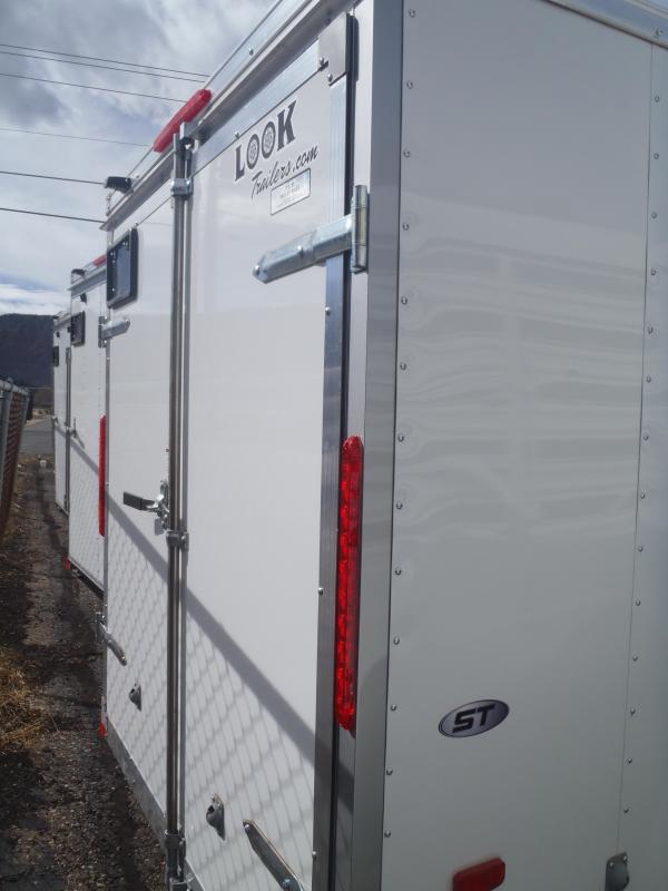 6x10 ST Enclosed Trailer Barn Doors With Side door