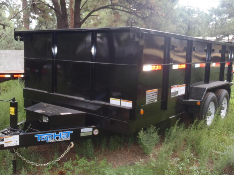 7' X 14' 14000 lb G.V.W. Dump Trailer 3' Sides