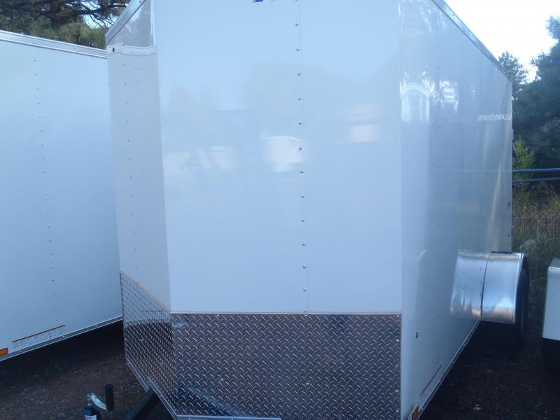 """6x12 ST Cargo V-nose  6"""" ex Height rear ramp door"""