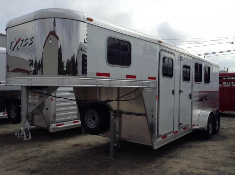 2015 Exiss 3 Horse Trailer W/ DR