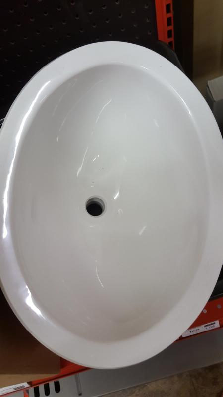 Oval Plastic Sink White