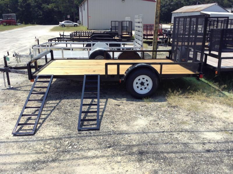 "2017 Triple C 6'-10""x12' W/Side Ramps Utility Trailer"