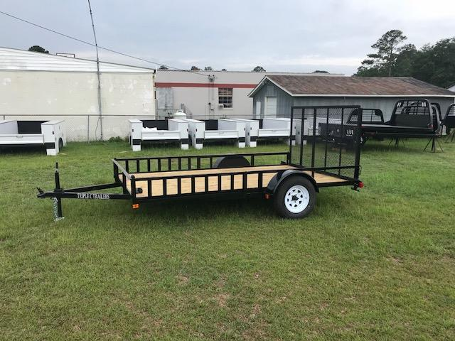 "2019 Triple C 6'-10""x12' W/Side Ramps Utility Trailer"