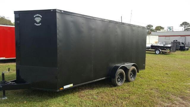 2019 Diamond Cargo 7x16 Blackout Enclosed Cargo Trailer