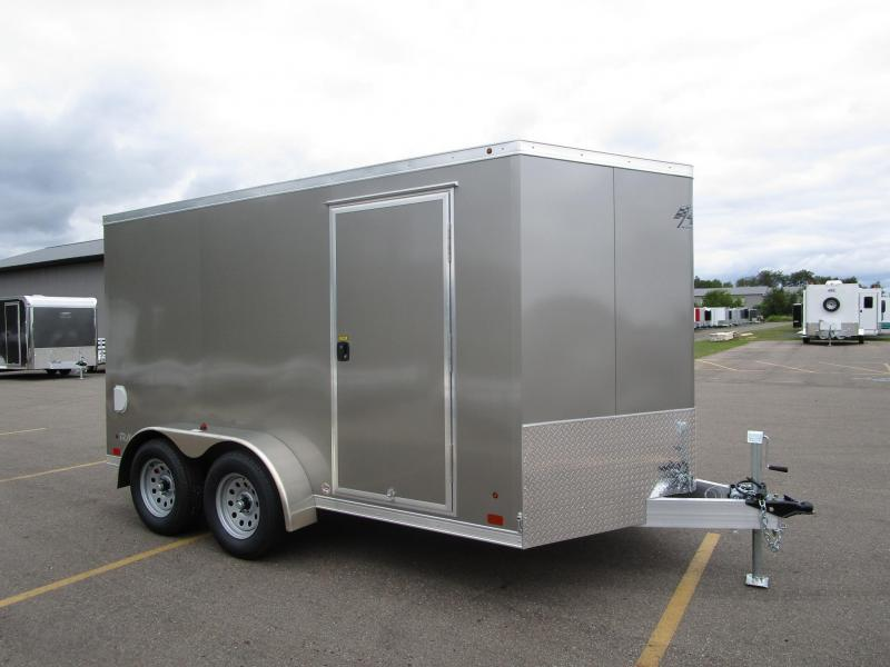 2018 ATC ALL ALUMINUM 7x12 RAVEN ENCLOSED CARGO TRAILER