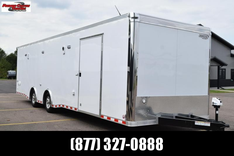 USED 2019 BRAVO STAR 32' ENCLOSED RACE TRAILER