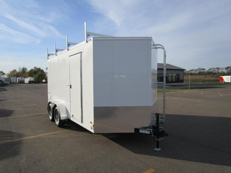 2018 BRAVO 7x14 ENCLOSED CONTRACTOR TRAILER w/LADDER RACKS