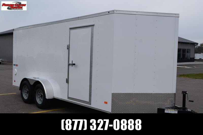2019 BRAVO HERO 7x16 ENCLOSED CARGO TRAILER