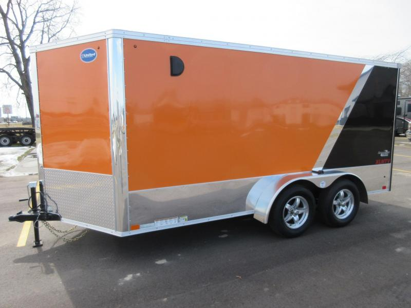 2016 United 7x14 Enclosed Motorcycle Trailer