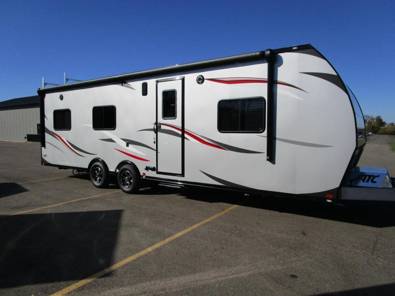 2018 ATC ALL ALUMINUM 8.5x28 TOY HAULER w/ FRONT BEDROOM