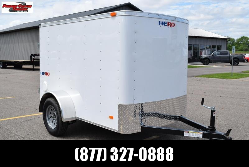 2019 BRAVO HERO 5x8 ENCLOSED CARGO TRAILER