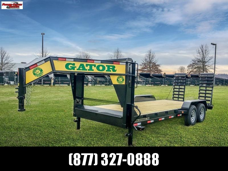 2019 GATORMADE 18+2 TANDEM 16K  LOW PRO GOOSENECK HEAVY EQUIPMENT TRAILER