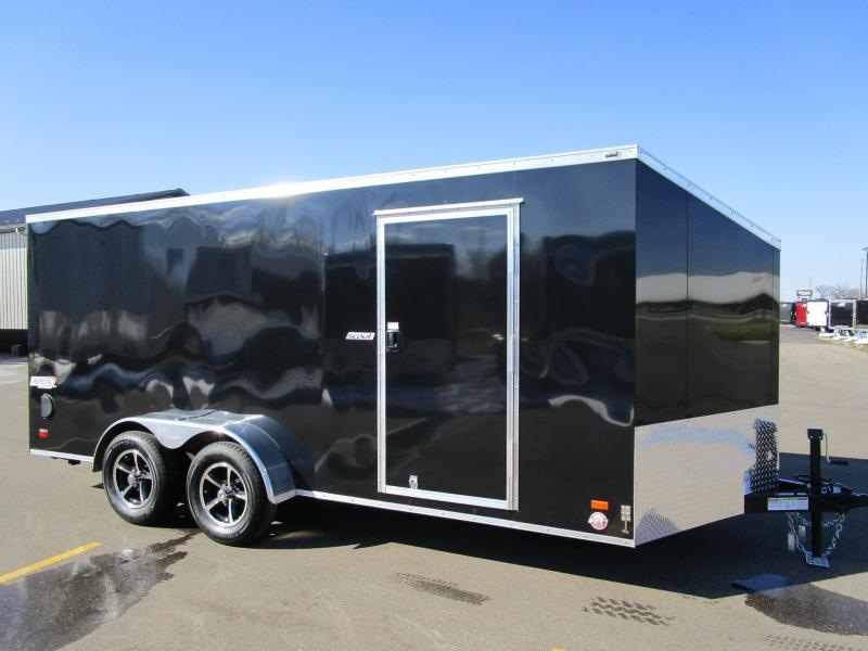 2018 BRAVO SCOUT 7x16 ENCLOSED MOTORCYCLE TRAILER