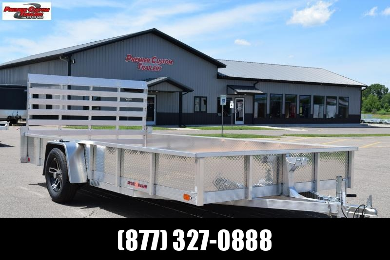 2019 SPORT HAVEN 7x14 OPEN UTILITY TRAILER w/ SIDES