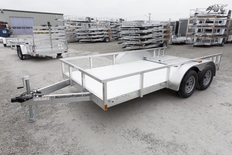 2018 ATC ALL ALUMINUM 7x16 TANDEM AXLE UTILITY TRAILER w/RAMP GATE
