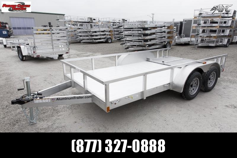 2019 ATC ALL ALUMINUM 7x16 TANDEM AXLE UTILITY TRAILER w/RAMP GATE