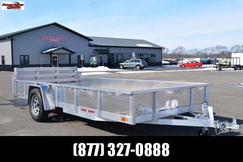 2019 SPORT HAVEN 6x14 OPEN UTILITY TRAILER w/ SIDES AND BI-FOLD RAMP
