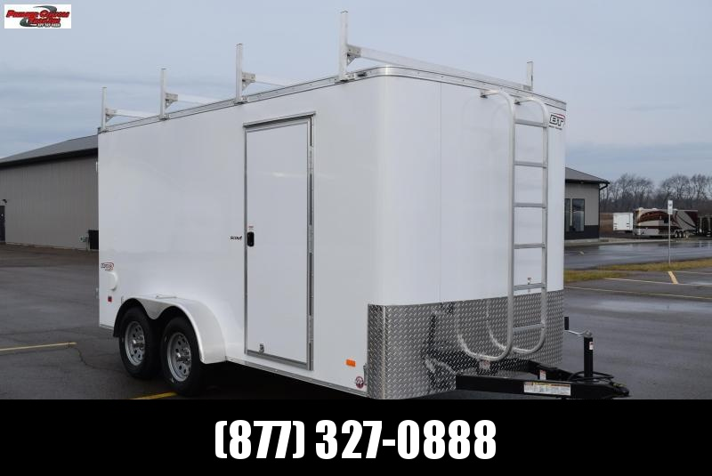 2019 BRAVO 7x14 SCOUT ENCLOSED CONTRACTOR TRAILER w/LADDER RACKS