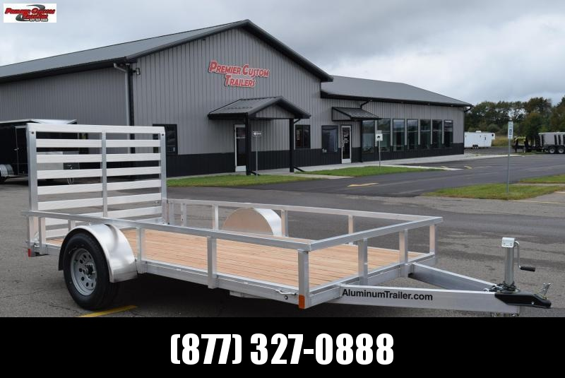 2019 ATC ALL ALUMINUM 6x12 UTILITY TRAILER w/ WOOD DECK