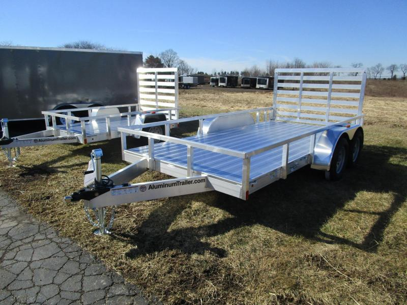 2018 ATC ALL ALUMINUM 7x14 TANDEM AXLE UTILITY TRAILER w/RAMP GATE