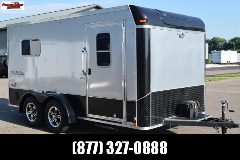 USED 2014 UNITED XLMT 7x14 ENCLOSED MOTORCYCLE TRAILER