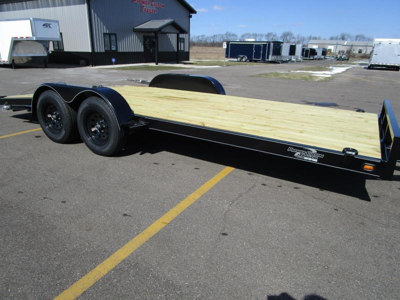 2019 NATION 18' ECONO OPEN CAR HAULER w/WOOD DECK