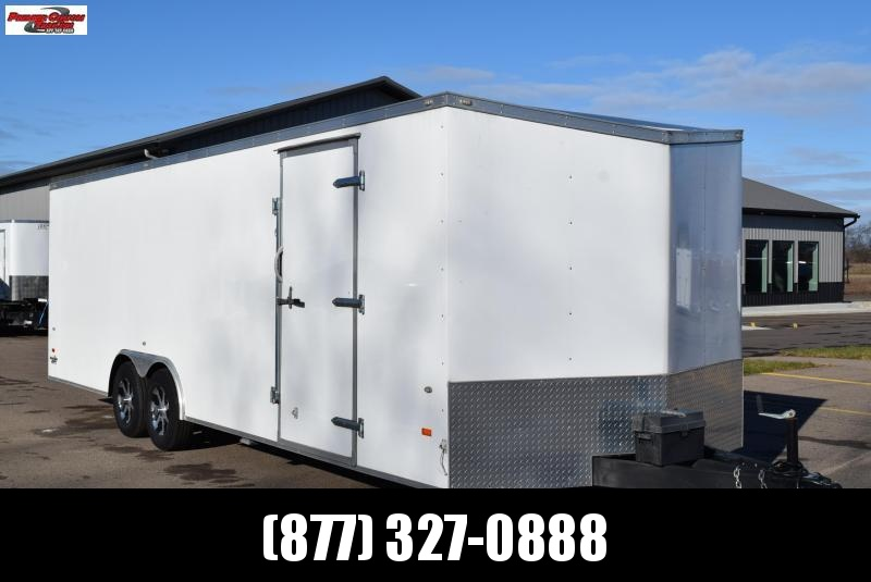 USED 2016 AMERICAN HAULER 8.5x24 ENCLOSED CAR HAULER