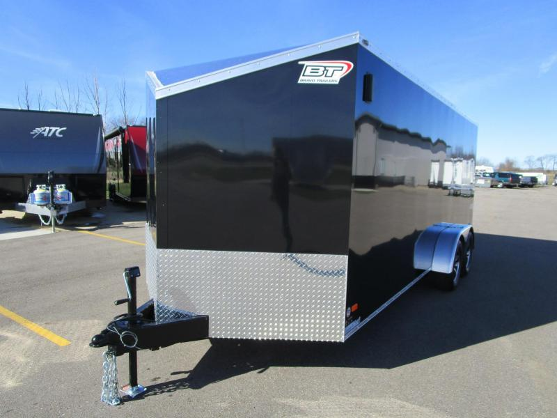 2017 Bravo 7x18 Scout 4 Place Enclosed Motorcycle Trailer