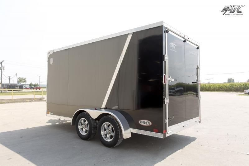 2018 ATC 7x14 RAVEN MOTORCYCLE TRAILER w/ MC PLUS PACKAGE