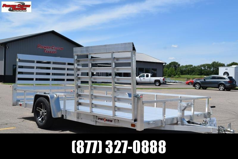 2019 SPORT HAVEN 7x14 DELUXE SERIES UTILITY TRAILER W/ SIDE RAMP