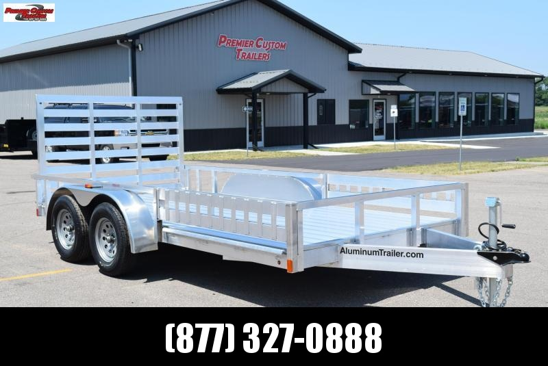 2019 ATC 7x14 ALL ALUMINUM UTILITY TRAILER w/ SIDE RAMPS