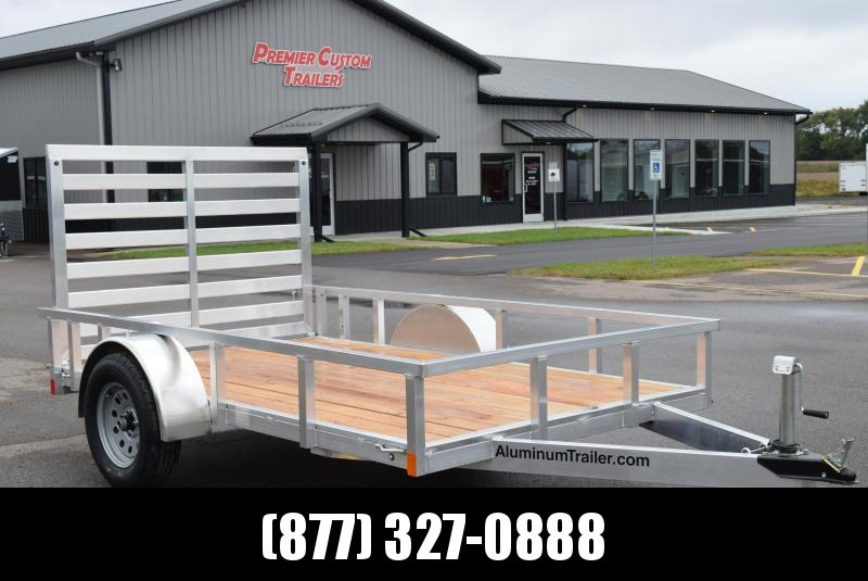 2019 ATC ALL ALUMINUM 6x10 UTILITY TRAILER w/ WOOD DECK