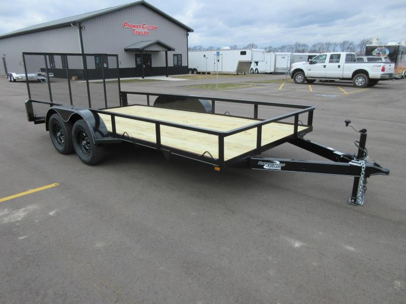 "2018 NATION 82""x16' OPEN LANDSCAPE TRAILER"