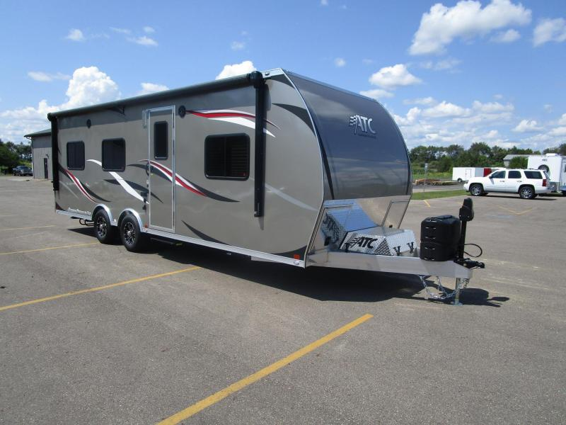 2018 ATC ALL ALUMINUM 8.5x25 TOY HAULER w/ FRONT BEDROOM