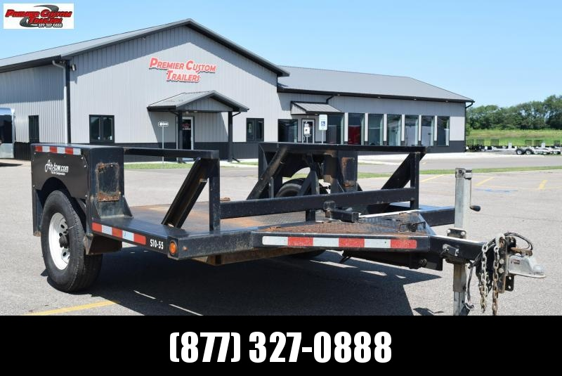 USED 2015 AIR TOW S10-55 SCISSOR LIFT TRAILER